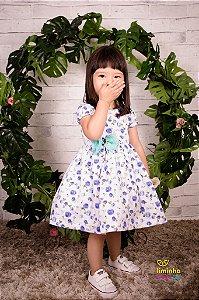 Vestido Floral Azul- Vestido infantil