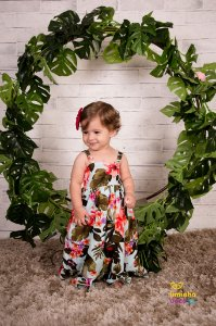 Vestido Floral Longo Infantil