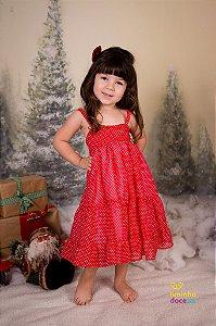 Vestido Vemelho de Poa - Vestido infantil