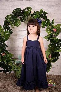 Vestido Longo Infantil Azul Marinho