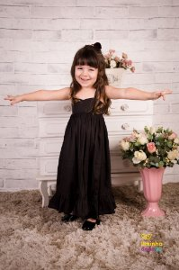 Vestido Preto Longo Infantil