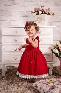 Vestido de Linho Infantil