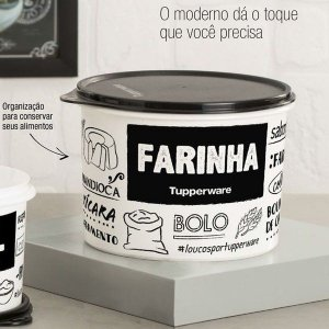 Tupper Caixa Farinha PB 1,8Kg - Tupperware