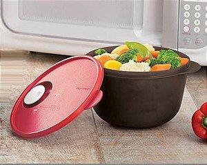 Cristalwave Preto com Vermelho 2 Litros - Tupperware