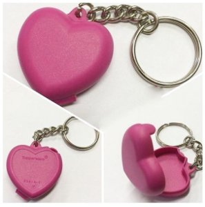 Chaveiro Coração Rosa 1 peça - Tupperware