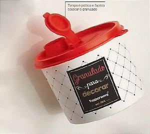 Tupper Redondinha Granulado Bistrô 500ml - Tupperware
