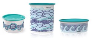 Pote Master Mar 1,5 Litro + Super Instantânea Mar 4,2 Litro + Delicatesse Mar 1,75 Litro kit 3 peças - Tupperware