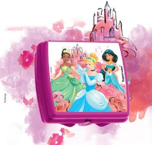 Porta Sanduíche Quadrado Princesas - Tupperware