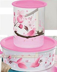 Super Instantânea Slim Flores e Pássaros 1,3 Litro + Delicatesse Flores e Pássaros 1,75 Litros kit 2 peças - Tupperware