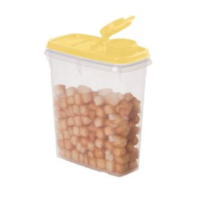 Porta Cereais Tampa Amarela 850ml - Tupperware