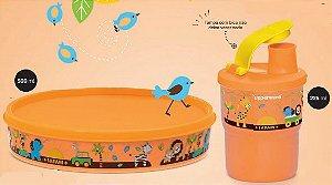Copo Colors com Bico 225ml +  Tupper Pratinho 500 ml Safari Baby Kit 2 peças - Tupperware