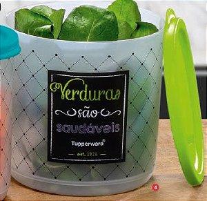 Refri Line Redondo Verduras Bistrô 1,1 Litro - Tupperware