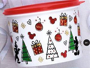 Tupper Caixa Natal Mickey 2,4 Litros - Tupperware