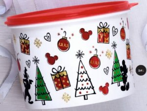 Tupper Redondinha Natal Mickey 500ml - Tupperware