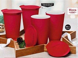 Copo Allegra 450ml kit 4 peças - Tupperware