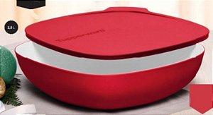 Tigela Allegra Quadrada Vermelha  2,5 Litros - Tupperware