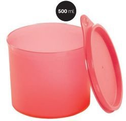 Tupper Redondinha Coral 500ml - Tupperware