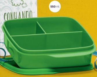 Basic Line com Divisórias Verde 550ml - Tupperware