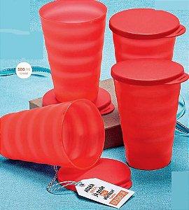 Copo Murano Vermelho 500ml kit 4 peças - Tupperware