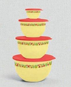 Tigela Murano Verão 4,3L + 2,5L + 1,3L + 200ml Kit 4 peças - Tupperware