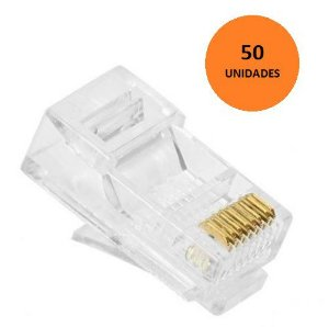Kit 50 Conectores Plug RJ45