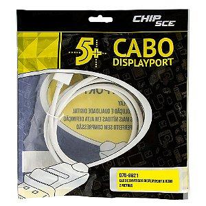 Cabo Conversor DISPLAYPORT para HDMI, ChipSce - 2 Metros