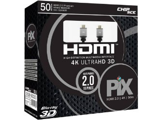 Cabo HDMI 2.0 - 4K, Ultra HD, 3D, 19 Pinos - 50 Metros - Chip Sce