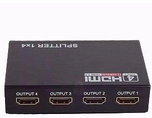 Splitter  HDMI - 1X4 FULL HD 1.4 ,3D 1080p-1 Entrada 4 Saídas