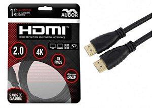 Cabos HDMI 2.0 - 4K, Ultra HD, 3D, 19 Pinos - 1 Metro - Aubor