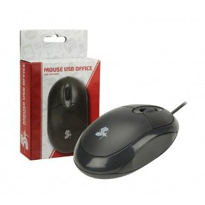 Mouse óptico USB 5+ Office Ergônomio Plug and  Play