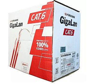 Cabo de Rede Furukawa CAT6 - Gigalan - Antichamas - Vermelho