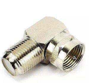 "Conector Coaxial para Fêmea Coaxial - 90 Graus transforma o cabo em ""L"""
