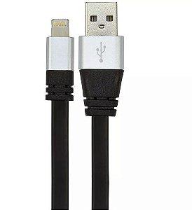 Cabo USB D Silicone FLAT Carregador e Dados Para IPHONE 5 e 6