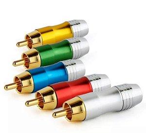 Conector RCA - Macho | para transmissão de áudio ou vídeo