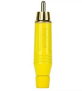 Plug RCA Macho ACPR-YEL, Profissional – Amphenol -Amarelo