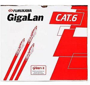 Caixa de Cabo De Rede FURUKAWA CAT.6 -305 Metros - GigaLan - Verde