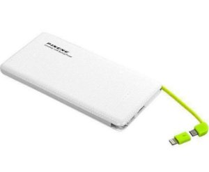 Carregador Portátil Power Bank Pineng 5000mah Slim - Pn952 - Branco