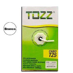Cabo de Rede Cat5 UTP 4P - Network Tozz  BRANCO - 305 Metros