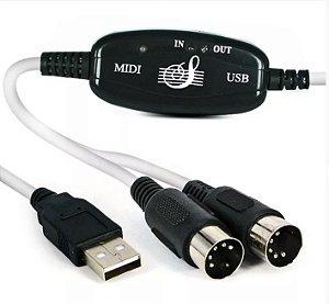Cabo Midi para USB - Tblack