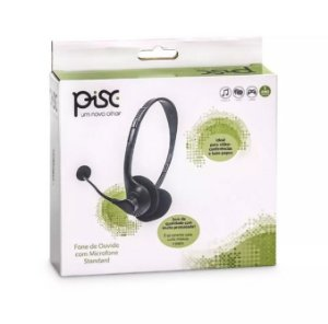 Fone de ouvido com Microfone Standard - Headset 1869 - Pisc