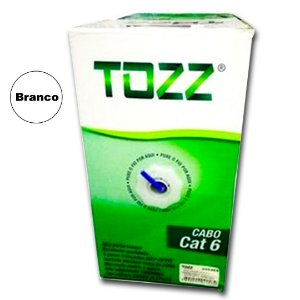 Caixa Cabo de Rede Cat6 - TZ6 - 305 metros - Branco - Tozz