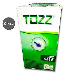 Caixa Cabo de Rede Cat6 - TZ6 - Cinza - 305 metros - Tozz