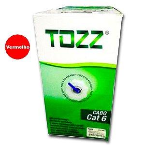 Caixa de Cabo de Rede Cat6 - 305 metros - Tozz / Vermelho