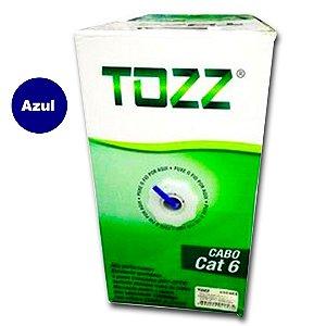 Cabo de Rede Cat6 -TZ6 -caixa 305 metros-Azul-Tozz