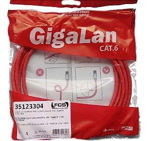 Patch Cord U/UTP Gigalan Cat6 HOMOLOGADO-CM - T568A/B - 2.0M - Preto