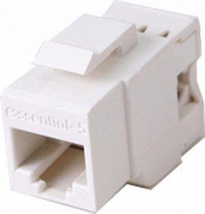 Conector Fêmea Keystone Rj45 Cat 5e Fêmea -Branco