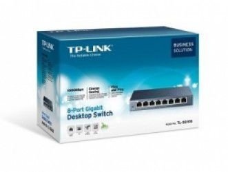 Switch 8 Portas 10/100/1000mbps Gigabit TL-SG108 - Tp-link