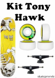 Kit Tony Hawk 2021 - Shape Birdhouse + Truck Funlight + Roda moska Next Frete Gratis