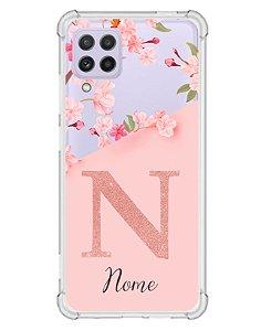 Capinha Personalizada para Samsung A22 4G Anti Impacto - Delicate Flowers Transparente