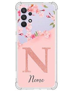 Capinha Personalizada para Samsung A32 4G Anti Impacto - Delicate Flowers
